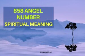 858 angel number spiritual meaning
